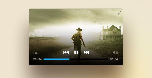 PSD Freebie: Another cool PSD video player
