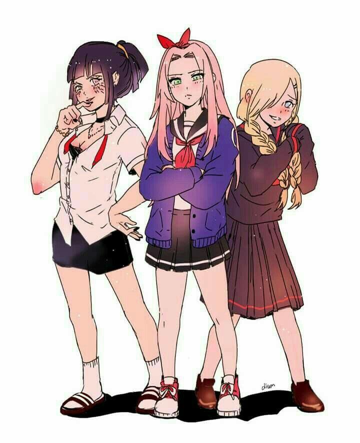 Hinata Sakura Ino Konoha Naruto Style Teen