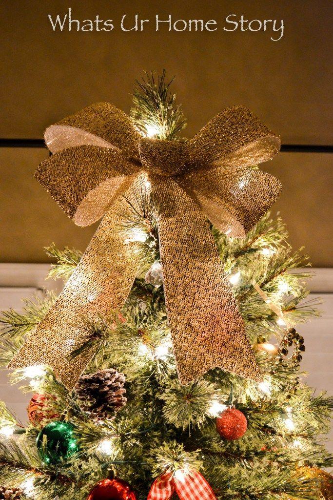 Big Bow Christmas Tree Topper