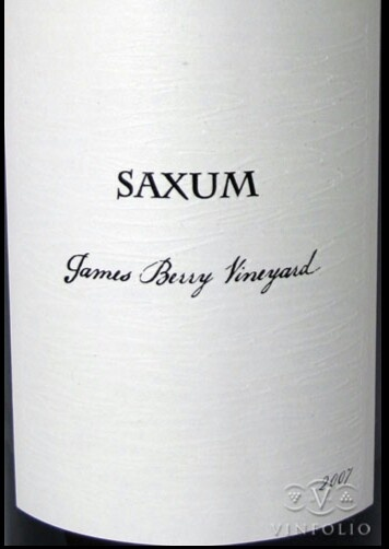 James berry vineyard paso Robles 2007  de saxum  producido por Justin Smith