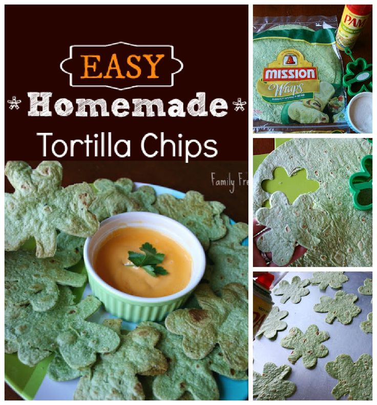 Homemade tortilla chips - spinach tortillas for healthier snacking ...