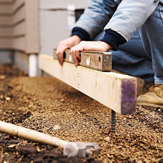 How To Build A Retaining Wall Garden Retain N Drain Building