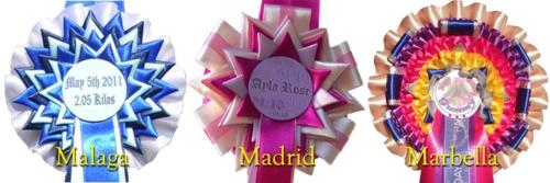 Colección de Malaga, Madrid, Marbella - Escarapelas, Cintas y Bandas de Lujo. en venta en Andalucía :: Venta de Caballos