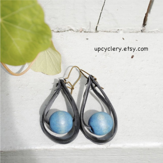 51 best bicycle inner tube reuses images on pinterest reuse inner tube and small blue bead earrings 1000 via etsy fandeluxe Ebook collections