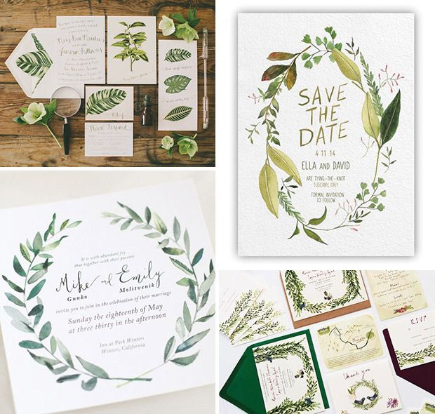 Foliage   The top 10 wedding stationery trends for 2016   www.onefabday.com