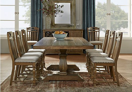asheville oak 5 pc rectangle dining room 999 99 find dining room price affordable dining room sets furniture