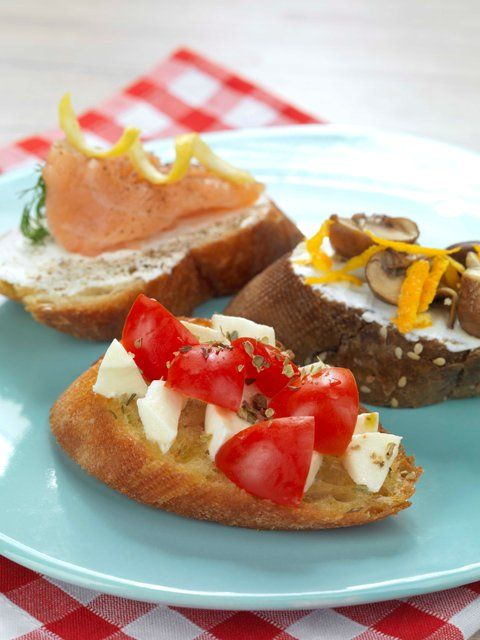The famous antipasto from Italy. Chef stories came up with easy, summer-y bruschette using Lemonis bakery baguette