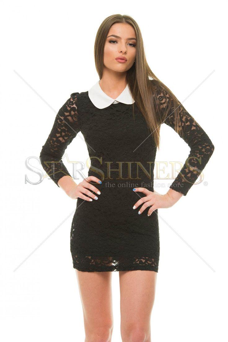 Laced Figure Black Dress