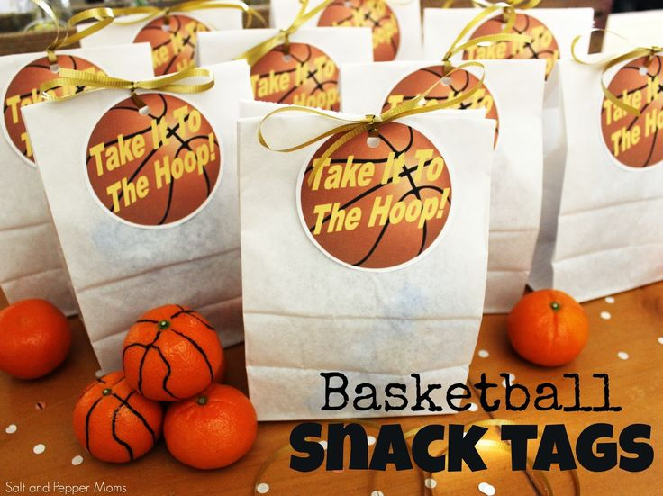 Basketball Snack Tags. Printable!