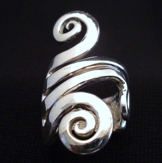 Solid Sterling Silver Real Fork Ring Size 5 to 16 by forkwhisperer, $149.00. I want:)