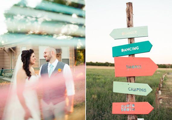DIY wedding signage | photo by Paige Newton | 100 Layer Cake