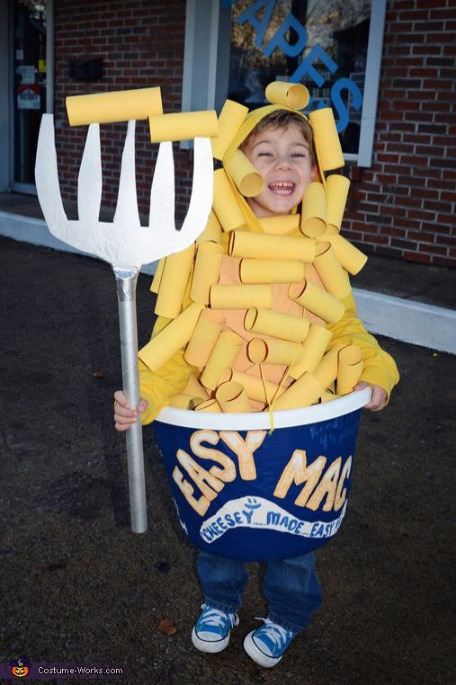 Mac & Cheese Kids costume, Best Halloween costumes for kids, DIY kids costumes, easy kids costumes to make, adorable and cute Halloween costumes for toddlers and infants, Halloween party ideas