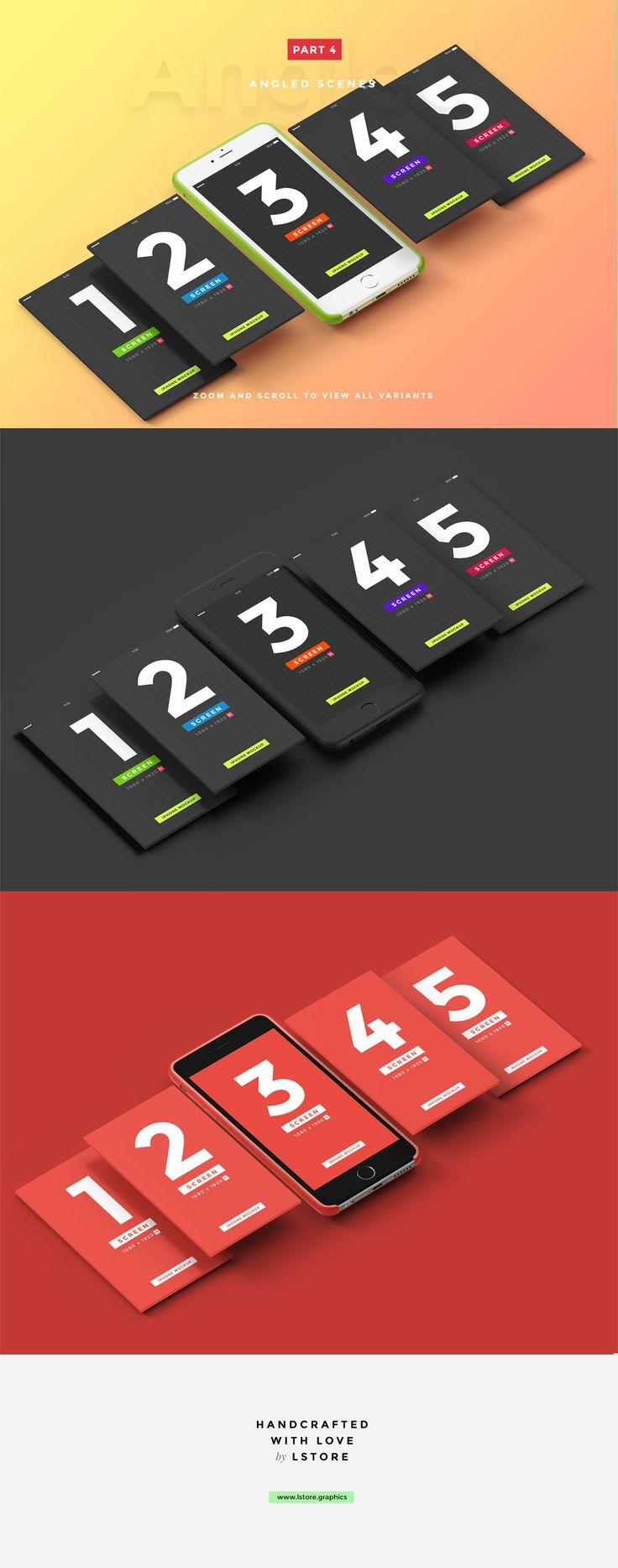 UI Presentation Kit, Device Mockups by LStore on @creativemarket