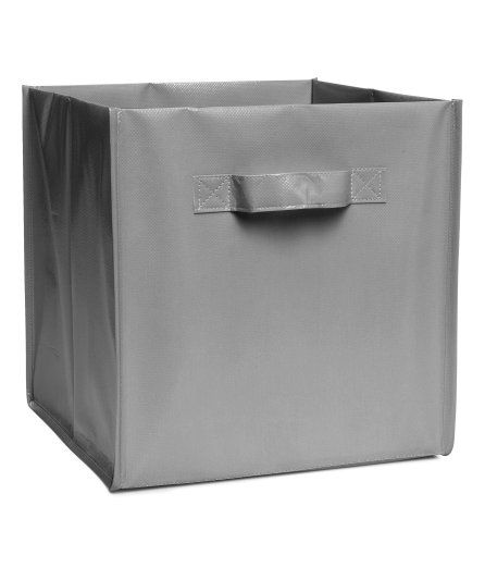 Check this out! Folding storage box with handles at sides. SIze 11 x 11 x 11 in. - Visit hm.com to see more.