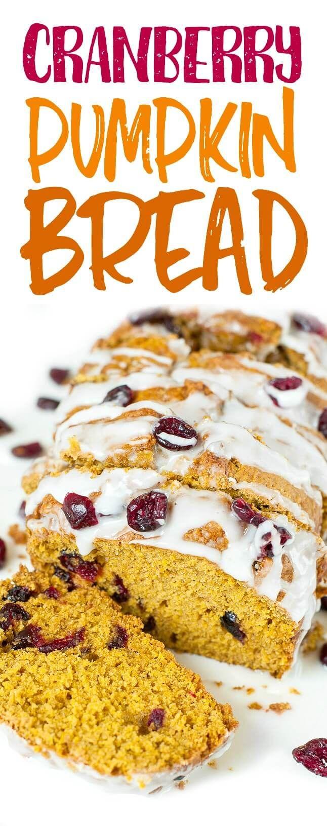Cranberry-Orange Pumpkin Bread: pumpkin-spiced pumpkin bread with a cranberry…