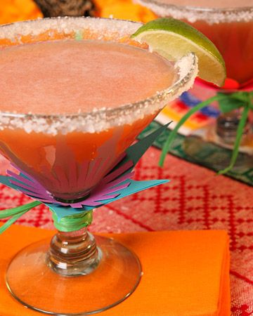 Cocktail-Glass Flowers - Martha Stewart Crafts: Happy Hour, Beverage, Lime Juice, Food, Margaritas Recipe, Margarita Recipes, Tropical Cocktails, Guava Margaritas, Drinks