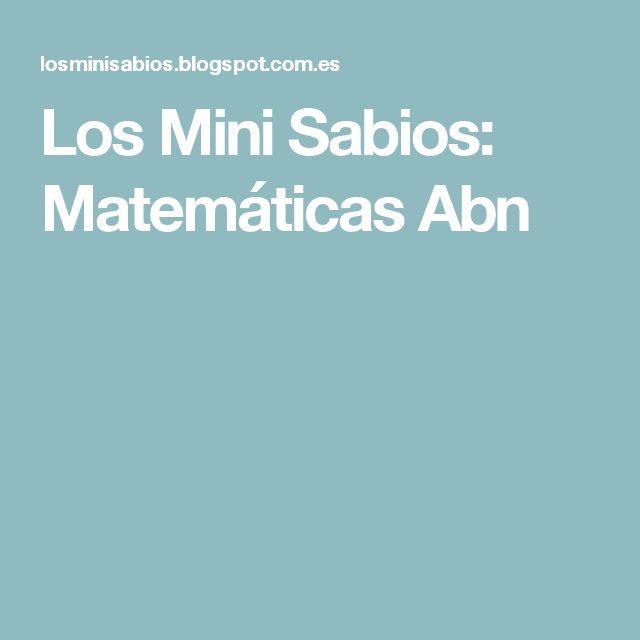 Los Mini Sabios: Matemáticas Abn