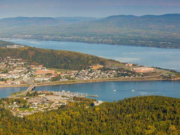 Aerial view of Gaspé Bay - Credit: Mathieu Dupuis