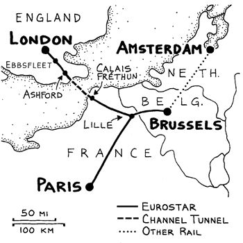 Rick Steves tips on traveling on the Chunnel in Europe.