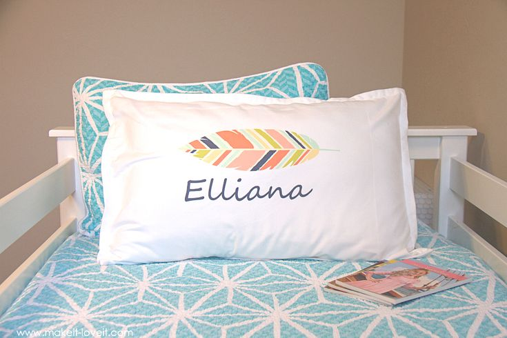 DIY personalized pillow cases - Make it & Love it