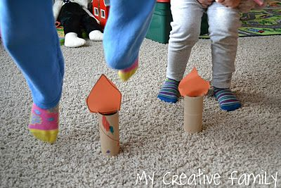 Jack Be Nimble Candlestick Craft...did this as a transition, said each child's name & they jumped