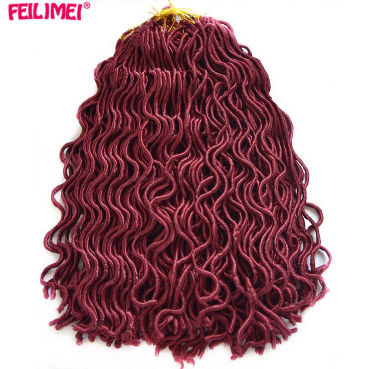 Feilimei 24 Roots Faux Locs Curly Crochet Hair Extensions 100g Synthetic Japanese Fiber Black Blonde Brown Bug Braids