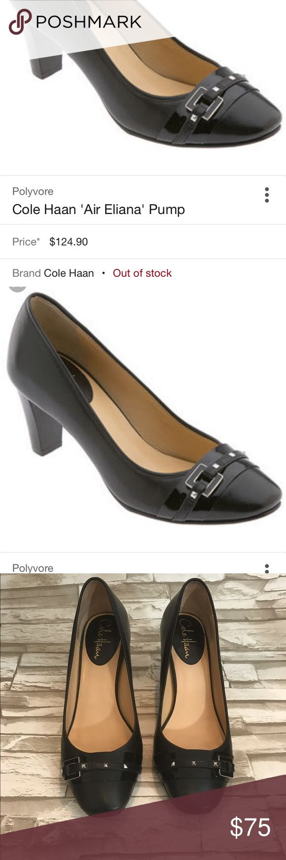 cole haan air eliana pump 8 Black Leather Studs cole haan air eliana pump Womens Size 8 Black Leather Studs Heels Shoes Sold Out In excellent condition.  Completely sold out and hard to find Cole Haan Shoes Heels