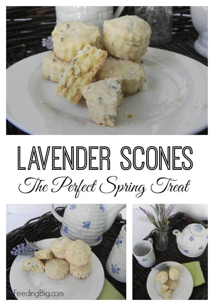 Lavender Scone Recipe - The perfect springtime treat.  #SundaySupper