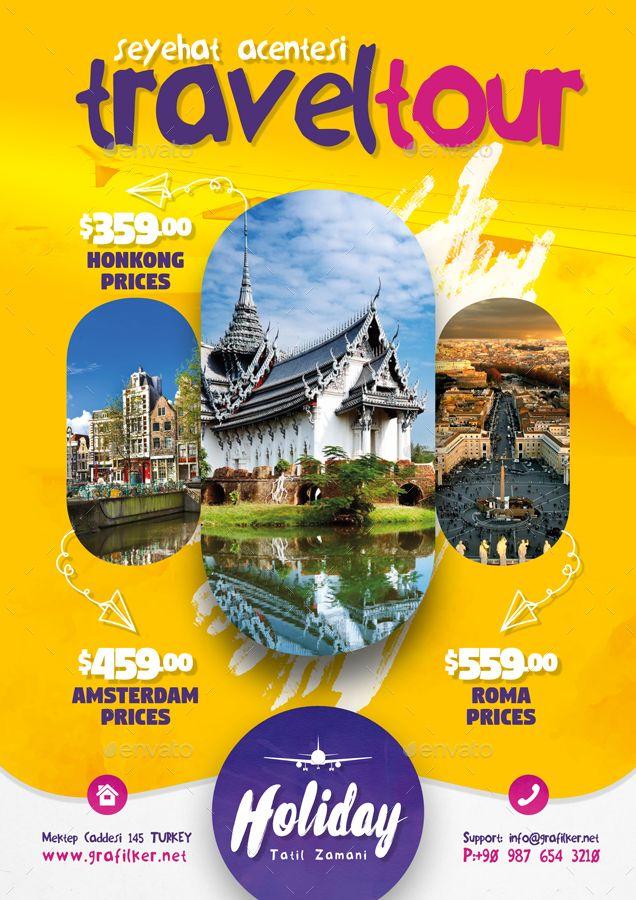 Travel Tours Flyer Bundle Templates Tours Travel
