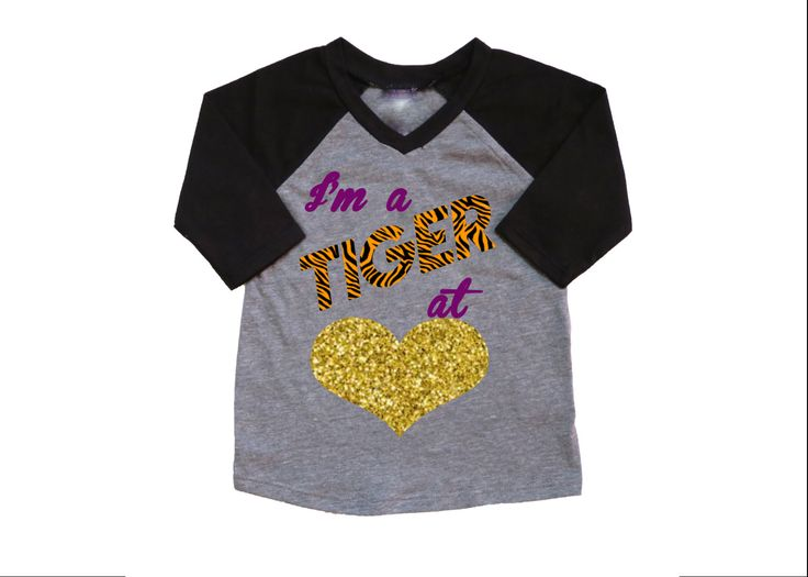 I'm a Tiger at Heart/ LSU Tigers/ Football Shirt/ College football/ Toddler football shirt/ Toddler shirt by BeutiqueCreations on Etsy