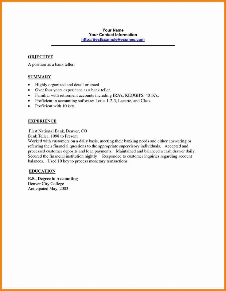 bank teller resume sample 25 job resume samples ideas resume - Resume Templates For Bank Teller