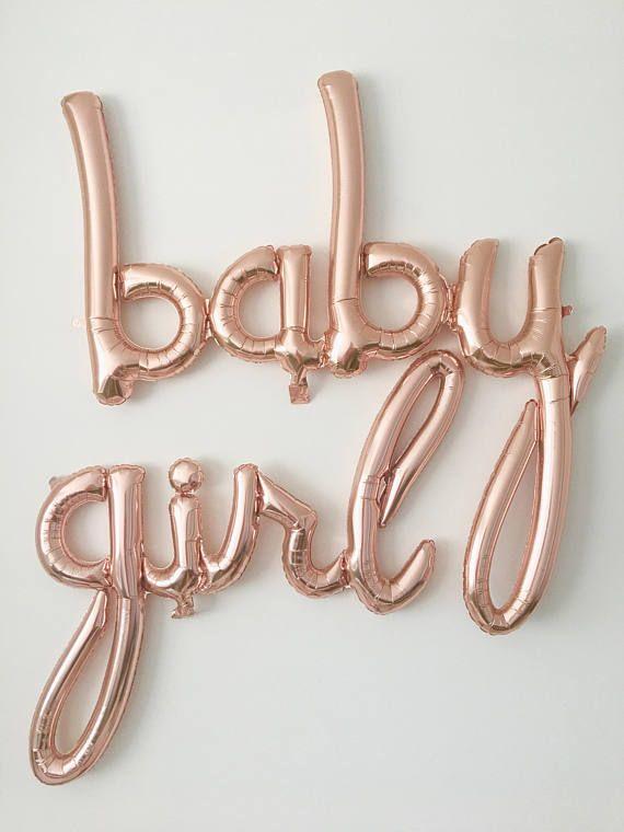 baby girl balloons rose gold baby girl balloons baby girl banner
