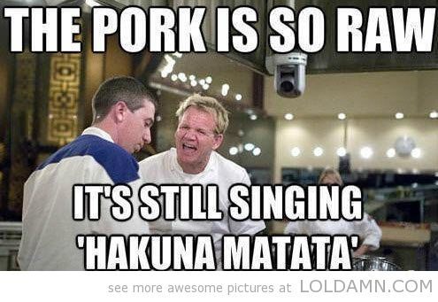 This pork is so raw…Chef Ramsay quotes