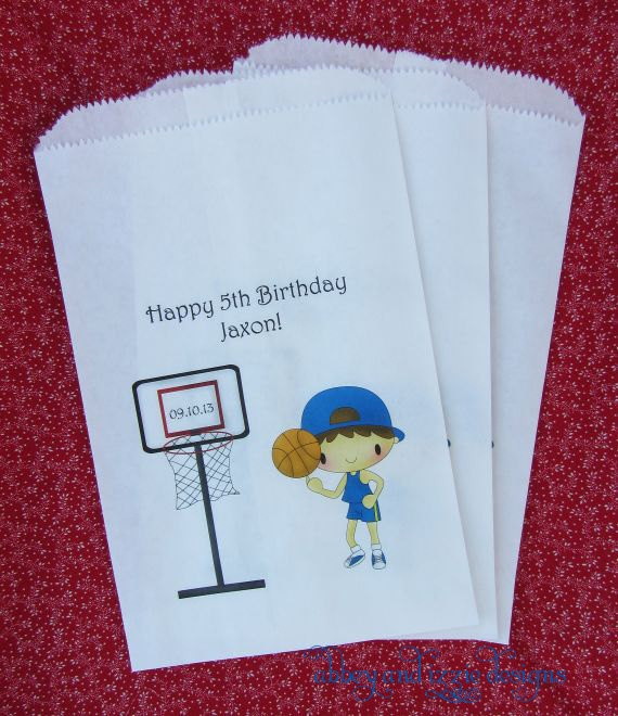 Basketball Party favors by abbey and izzie designs on Etsy,