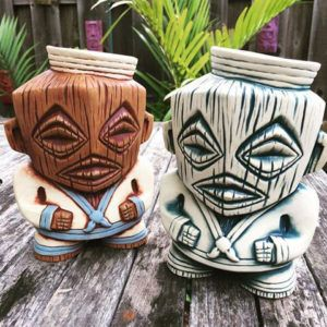 Sailor Cook, the official 2016 Tiki Kon mug by VanTiki, is inspired by the Tikis of the Cook Islands and honors the brave GIs who served in the Pacific Theater during World War II.