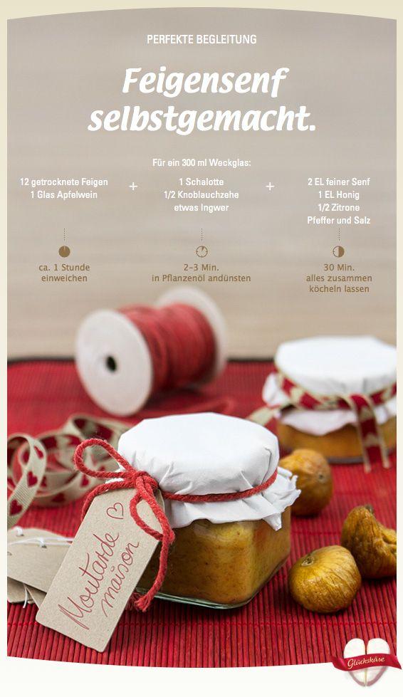 Feigensenf selbstgemacht – Öffne täglich den Géramont Glückskäse, lass Dich inspirieren und gewinne tolle Preise!