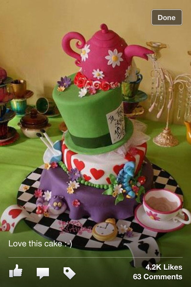 29 Best Alice In Wonderland Cakes Images On Pinterest Mad Hatter