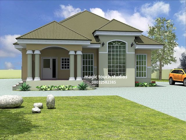 Modern And Contemporary Nigerian Building Designs 5 Bedroom Bungalow Bungalow Style House Affordable House Plans Bungalow House Plans Modern house plan nigeria