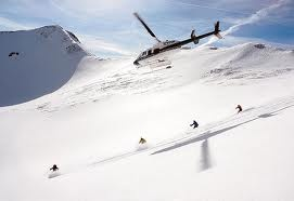 want to ski on virgin snow? Take a helicopter!