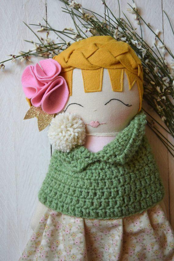 Rag Doll Cloth Doll Handmade Doll Gift for by GioCrochetAndMore