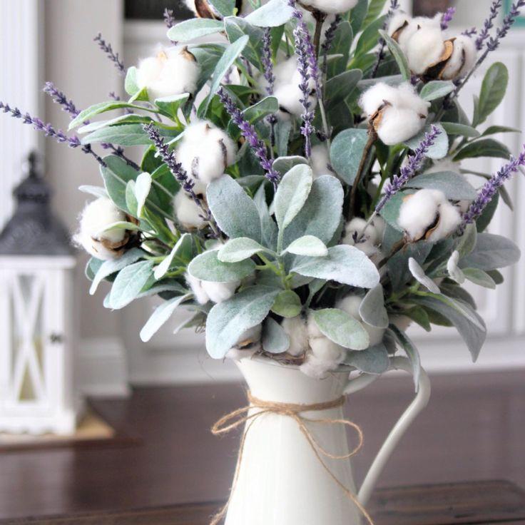 Back In Stockfarmhouse Decorcotton Arrangementtable Etsy Floral Arrangements Flower Arrangements Floral