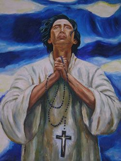28th Sept - Saint Lorenzo Ruiz or Saint Lawrence Ruiz of Manila (ca. 1600 – 29 September 1637), also known as Laurentius Ruiz de Manila or San Lorenzo Ruiz de Manila, is the first Filipino saint (protomartyr) venerated in the Roman Catholic Church. He was killed for refusing to leave Japan and renounce his Roman Catholic beliefs during the persecution of Japanese Christians under the Tokugawa Shogunate in the 17th century.