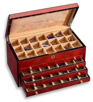 Triple Burl Wood Cufflink Box  sc 1 st  Pinterest & 124 best Box cufflink case images on Pinterest | Menu0027s cufflinks ... Aboutintivar.Com