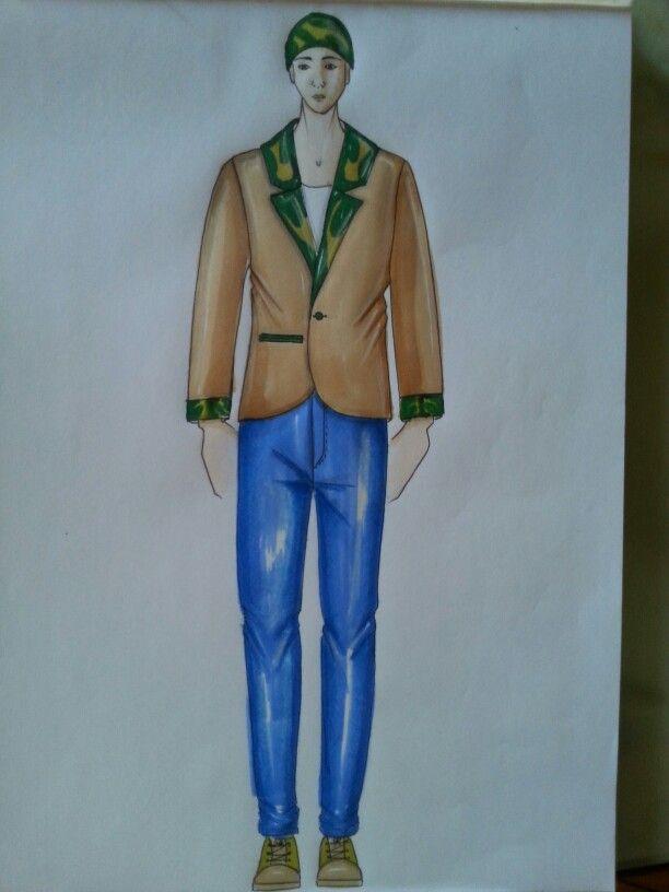 men jacket sketch