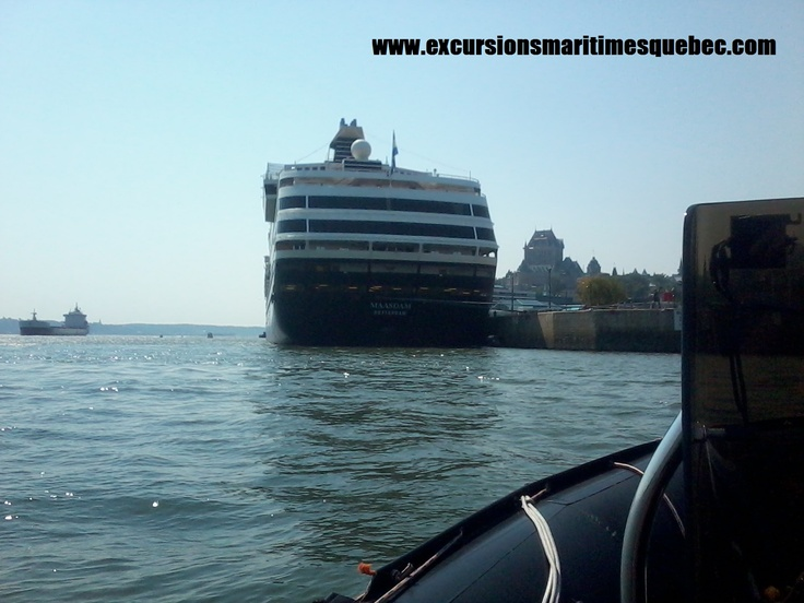 Venez suivre l'arrivée et/ou le depart de ces géants des Mers tel que le Maasdam sur le fleuve St-Laurent.     Come and follow the arrival and/or departure of these giants of the Sea such as the Maasdam on the Ste-Lawrence River.