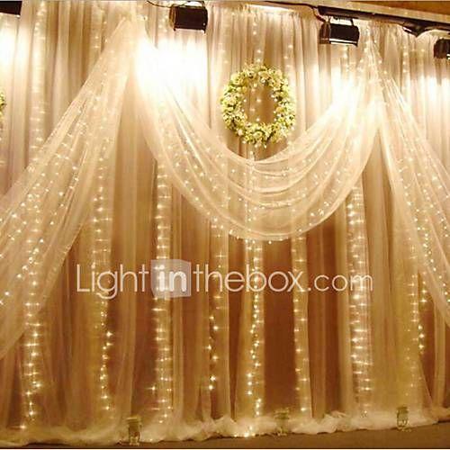 3m x 3m 300 llevó la secuencia del carámbano luces luces de hadas de Navidad al aire libre para la boda / fiesta / cortina / decoración del jardín 6197577 2018 – $16.49
