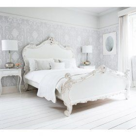 Provencal Sassy White French Bed