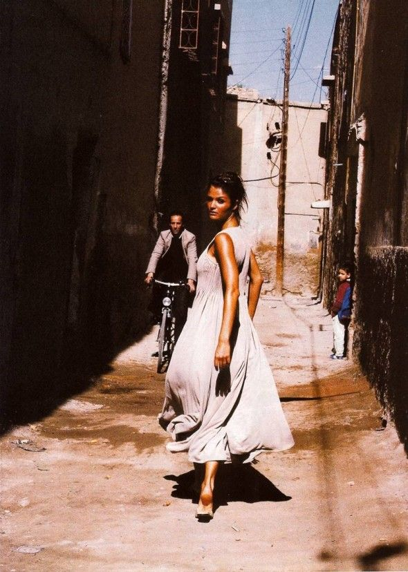 """Helena Christensen in """"Our Woman in Havana"""", Vogue UK March 1994, photographed by Mikael Jansson, styled by Kate Phelan"""