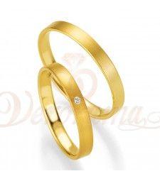 Βέρες γάμου χρυσές με διαμάντι breuning 4401