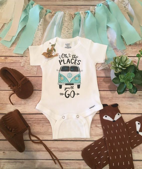 Unique Baby Gift Oh The Places You'll Go Onesie® Hipster